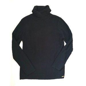 CK Turtleneck Ribbed Sweater black M